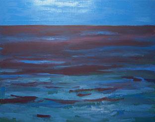 Abendstimmung Meer, 2013, Öl auf Leinwand, 190 x 240 cm