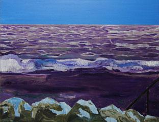 Welle2 2013, Öl auf Leinwand, 100 x 130 cm