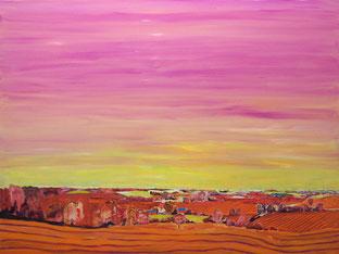 Rote Landschaft, 2013, Öl auf Leinwand, 150 x 200 cm
