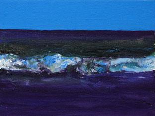 Welle1, 2013, Öl auf Leinwand, 18 x 24 cm