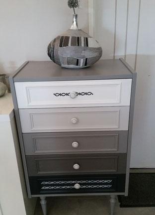 peinture sans poncage - camaieu gris - moderne - peinture meuble