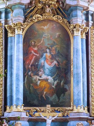 """Hochaltargemälde """"Maria Himmelfahrt"""" von Johann Caspar Sing 1717"""