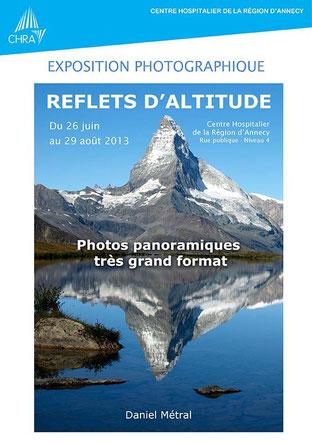L'affiche de l'expo à l'Hopital d'Annecy