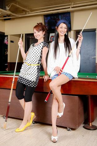 左:江辺香織(JPBA)、右:ふくだあかり Photo : 飯村潤(EST.)※以下同