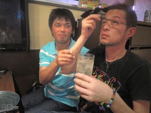 Fくん(左)&黒河伸二朗プロ(JPBA)