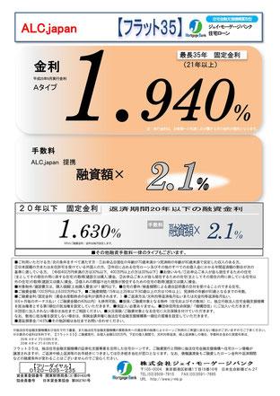 フラット35金利情報 2013年9月