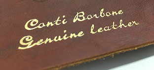 Genuine leather Conti Borbone