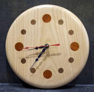 Michel Fournier Tournage sur bois - Horloge 8