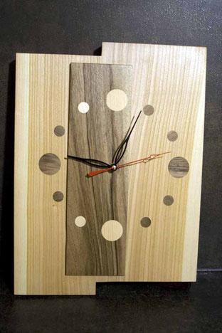 Michel Fournier Tournage sur bois - Horloge 4