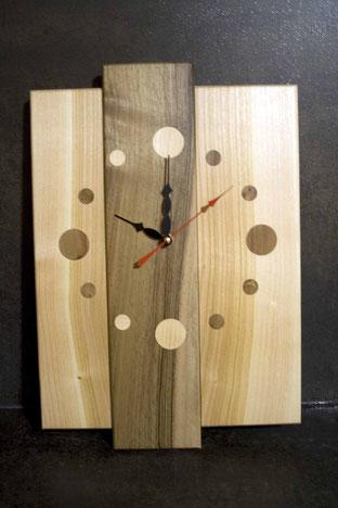 Michel Fournier Tournage sur bois - Horloge 3