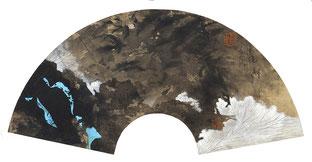 佳境.识 WELLBEING.CONSCIOUSNESS 22X45CM  纸本水墨与矿物色 INK & MINERAL COLOR ON PAPER  2017