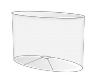 Tischlampenschirme oval individuell