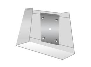 Wandlampe trapezförmig direkte Wandmontage