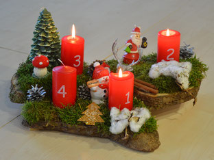Adventkranz made by P. S.