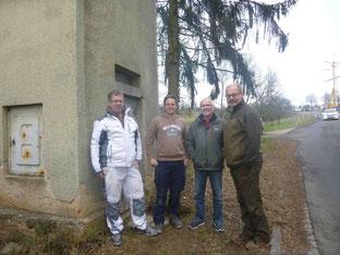 Dieter Allig und seine Kollegen mit Richard Kalkbrenner