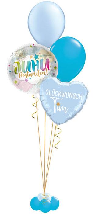 Ballon Luftballon Heliumballon Deko Dekoration Überraschung Mitbringsel Ballonpost Ballongruß Versand verschicken Geschenk Idee Ballonpost Bouquet Heliumballons Führerschein bestanden Juhu Abi Schule Glückwunsch Geschenkballon Ballongeschenk mit Namen