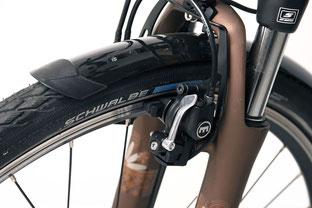 Die hydraulischen Magura-Bremsen sind für ihre Zuverlässigkeit und Bremskraft berühmt
