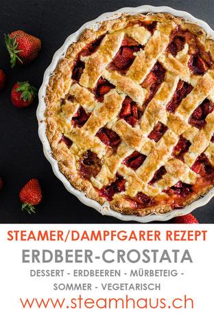 Dampfgarer Rezept: Erdbeer-Crostata