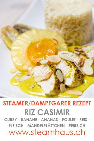 Riz Casimir aus dem Dampfgarer.