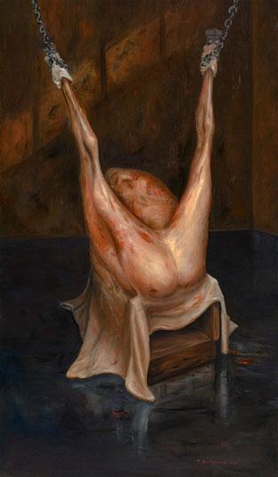 Las cosas la están mirando y ella no puede mirarlas (F.G. Lorca) 2006, óleo sobre lienzo 137X80 cm