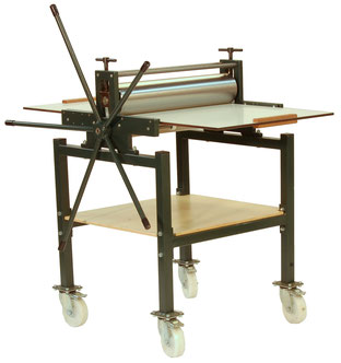Druckpresse JSV 60 mit Untergestell mit Einlegeboden und Rädern