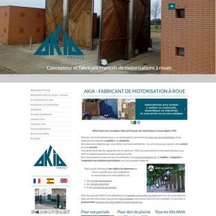 Site Akia France, refonte réalisée par e-cime.fr