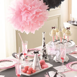 DECORATION ANNIVERSAIRE FILLE PARIS- PARIS GIRL BIRTHDAY DECORATION