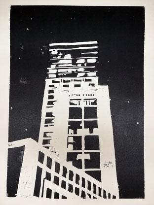 Dietmar Bous, Kunst, Druck, Radierungen, Oldenburg, Künstler, Holzschnitt, Berlin, Münster