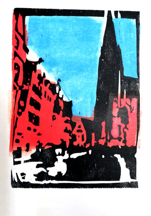 Dietmar Bous, Kunst, Druck, Radierungen, Oldenburg, Künstler, Holzschnitt, Berlin