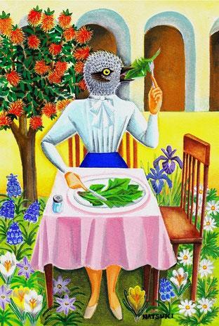 ヒヨドリの食卓