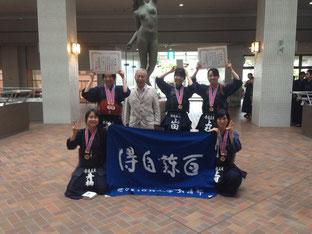 左後ろから青木、西川先生、山田、上杉、舟橋、上月