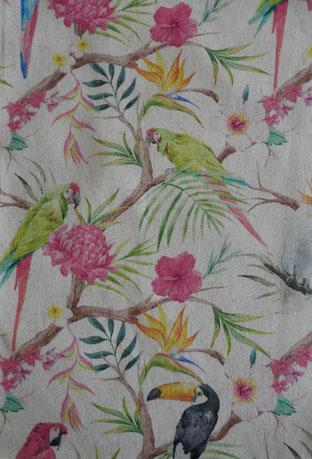 tissu oiseaux exotiques : unvers emylila