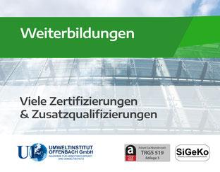 Weiterbildung - Optima Schadstoffsanierung und Rückbau GmbH