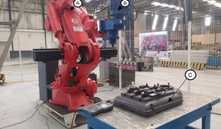 PFSW — Plasma Assisted Friction Stir Welding with a 500kg payload COMAU robot NJ5000, a bespoke FSW spindle and a Hyperterm Powermax 1250® 80 A plasma cutter
