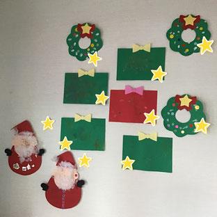 クリスマス仕様の壁面①