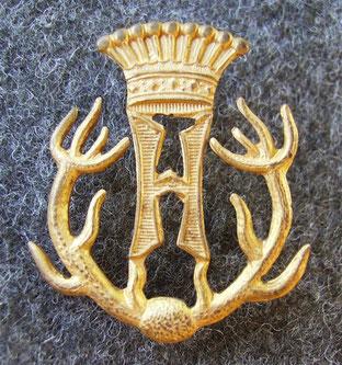 Emblem der herrschaftlichen Forstbeamten ab 1840.