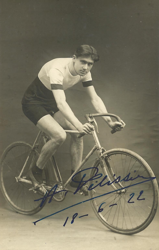 Cycling Autograph by Fausto Coppi