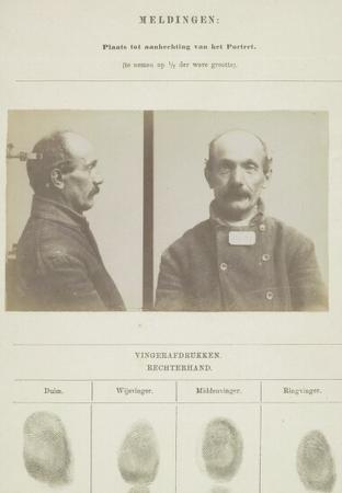 Signalementskaart Veenhuizen opname: 11-08-1896