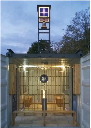 Kapelle, Containerkapelle, Kapelle aus Stahl, Aresing, Ostermaier, Metallbau, Stahlhandel, Schrobenhausen, Martin Knöferl
