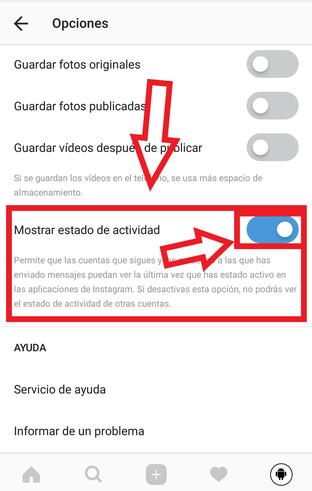 Desactivar Última Hora De Conexión En Instagram