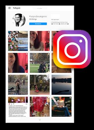 Webscreen Hochzeitssängerin aus Hamburg auf Instagram