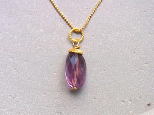 Silberketten mit Edelstein Anhänger