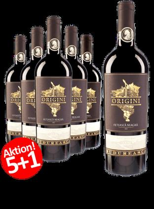 6-er Weinpaket Budureasca Origini Feteasca Neagra 2015