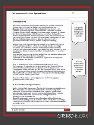 gratis Info Broschüre Allergene und Zusatzstoffe