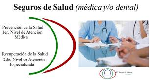 Seguros de Salud, Médica y/o Dental: Prevención de la Salud (1er. Nivel) y Recuperación de la Salud (2do. Nivel)