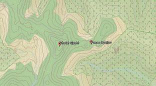 Mappa topografica con in evidenza il Passo e il monte Cholat Sjachl