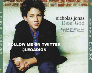 nicholas nick jonas brothers solo album cd dear god single demo rare cd