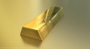 Dem Geld liegt der Goldbarren zugrunde.