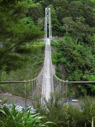 Die Fussgänger-Hängebrücke wurde 1925 erstellt.