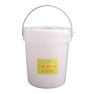 """いきいきペール5型(4.3L) いきいきペールの原料のペレットに抗酸化溶液を吹き付け、それをバケツの形に成形しています。この抗酸化溶液の力によって、いきいきペールは、発酵作用・鮮度保持作用を備えたバケツです。 味噌、塩麹、ぬか漬け、酵素ジュース、ヨーグルトなどの発酵食品が簡単に作れます。 発酵食品づくりに必要な""""毎日の手入れ""""が週に1、2回でOK。"""